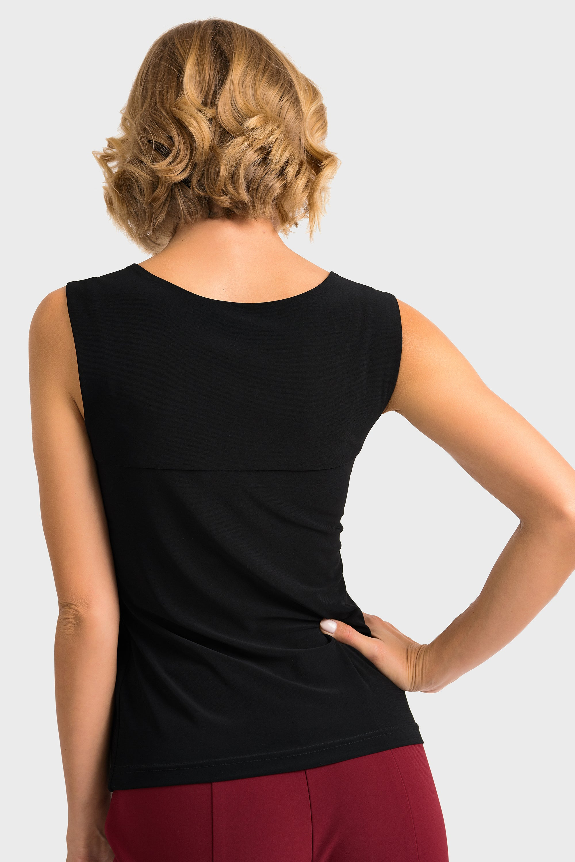 Joseph Ribkoff Black Cami Square Neck