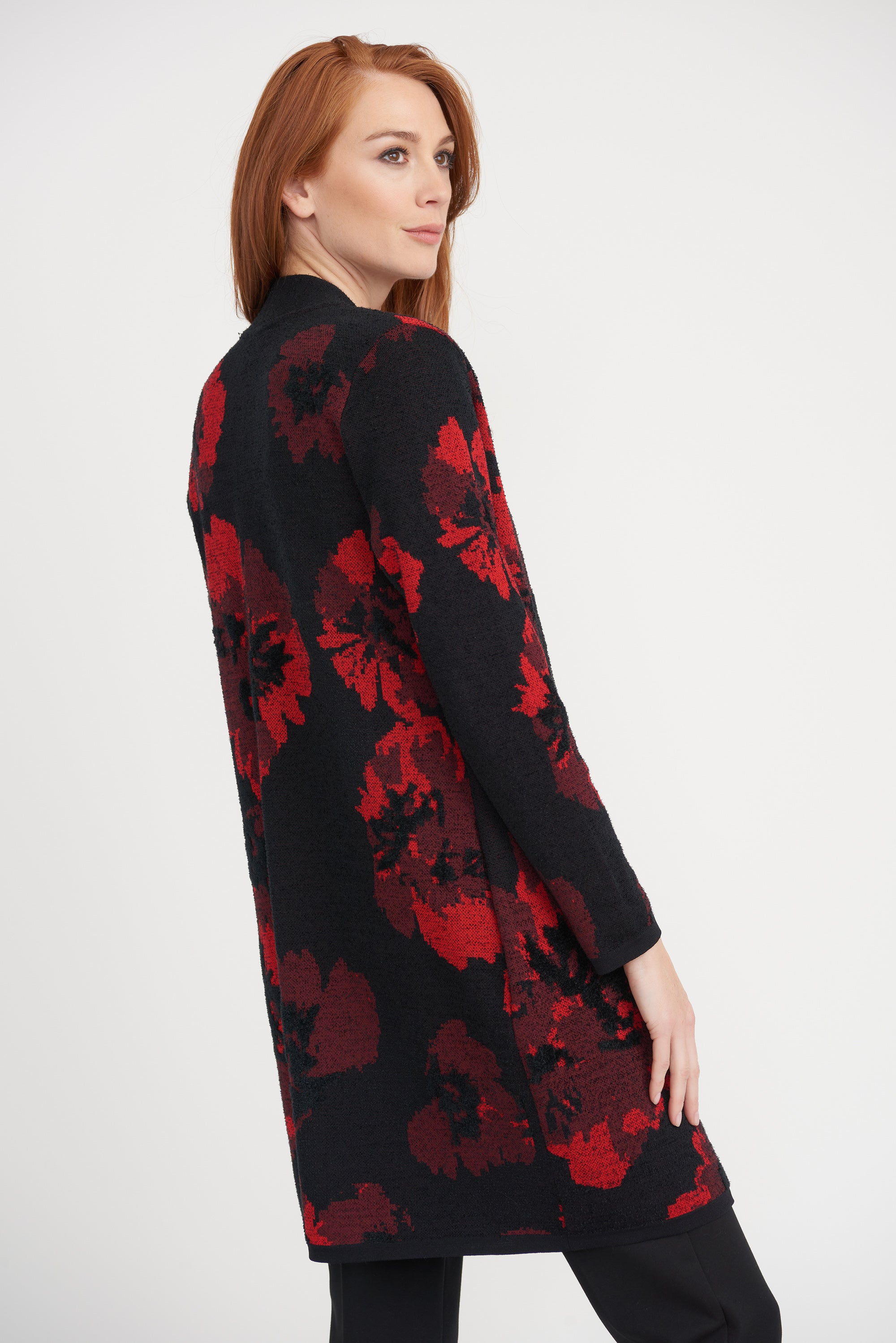 Joseph Ribkoff Red/Black Cover Up