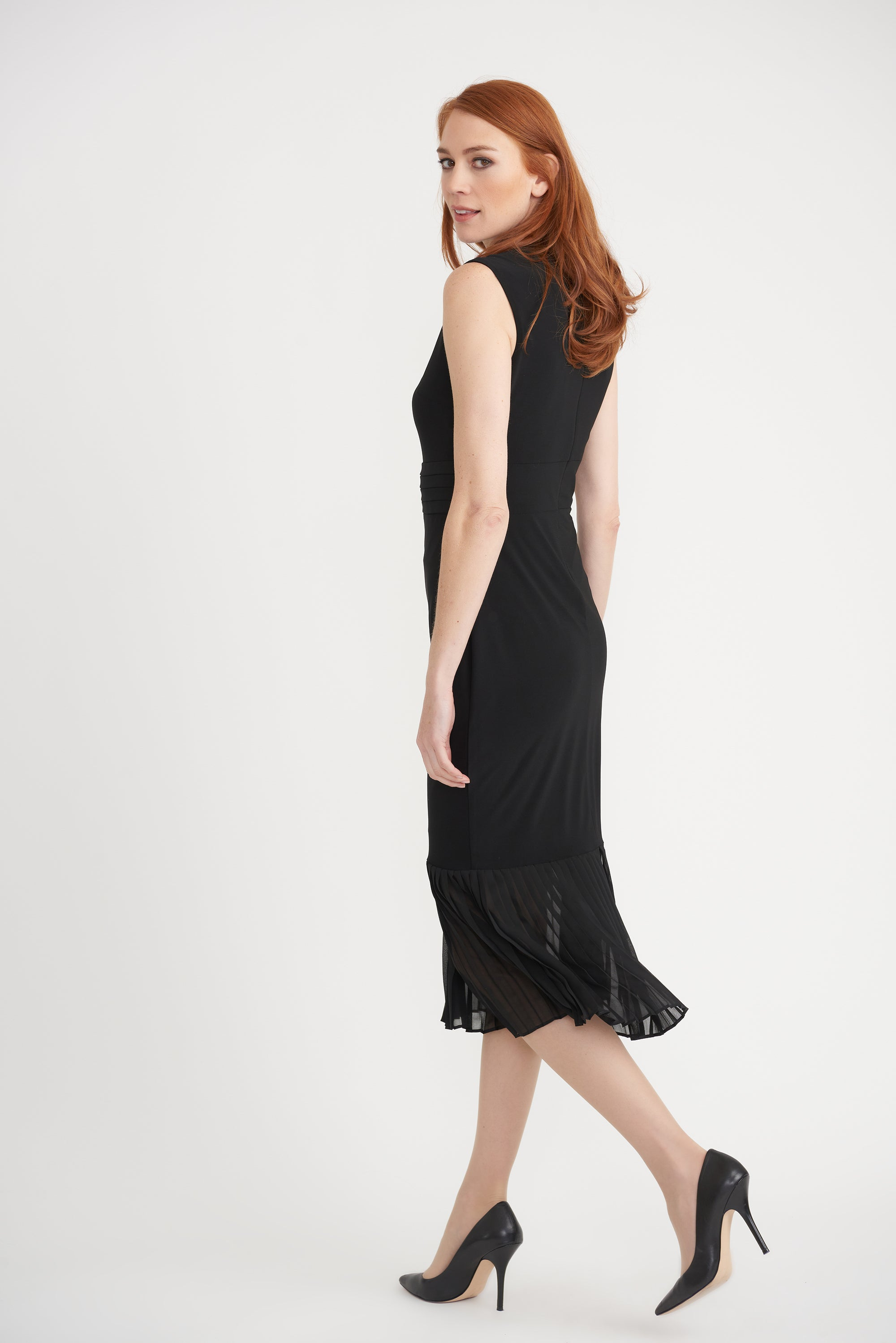 Joseph Ribkoff Sleeveless Pleated Dress