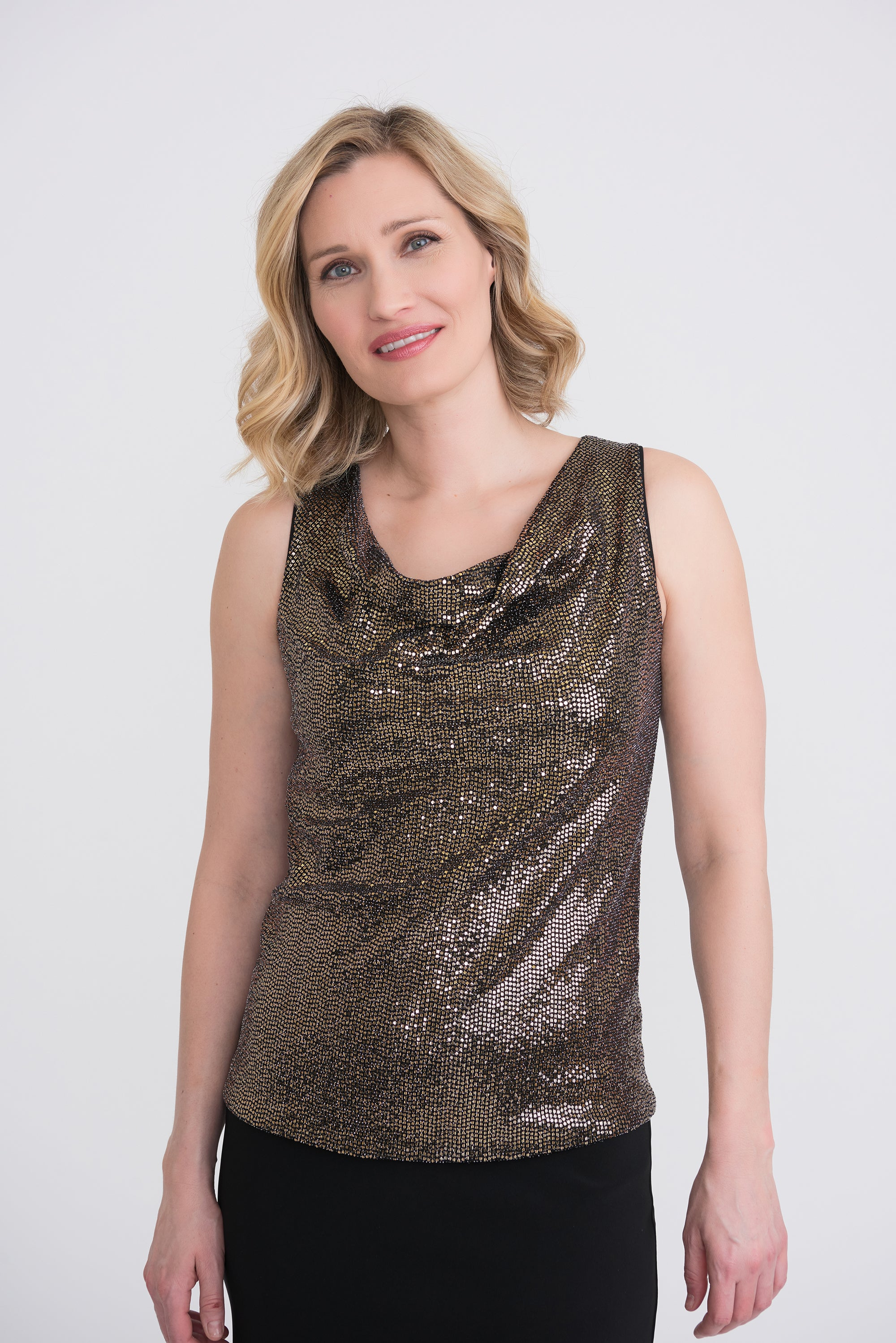 Joseph Ribkoff Sleeveless Sequined Top