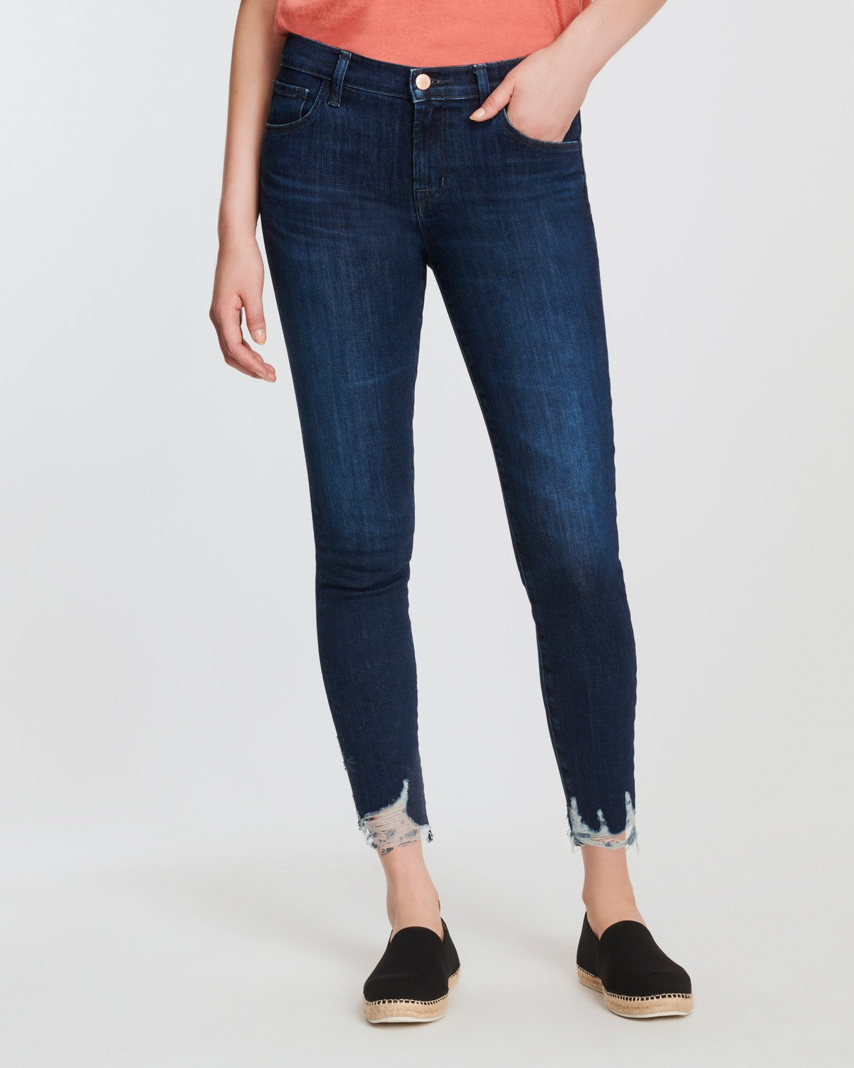 J Brand 835 Midrise Crop Skinny Impulse Destruct