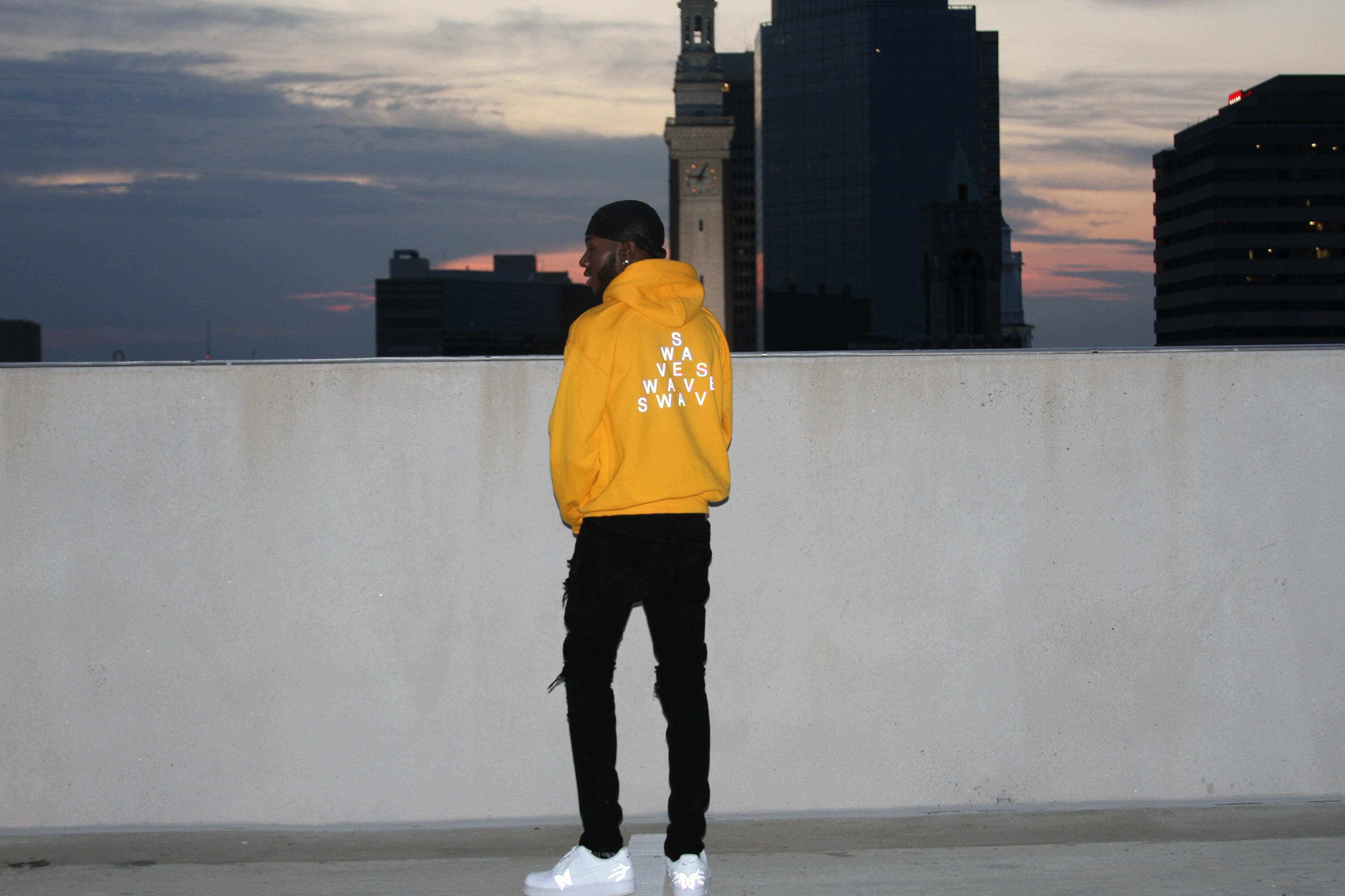 Medallion Yellow Holographic Swave Hoodie