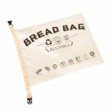 Load image into Gallery viewer, Organic Cotton Bread Bag (Reusable Premium Bread Bag/ Bakery Supplies)