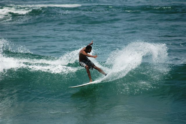 Surfing at N'Gor Right