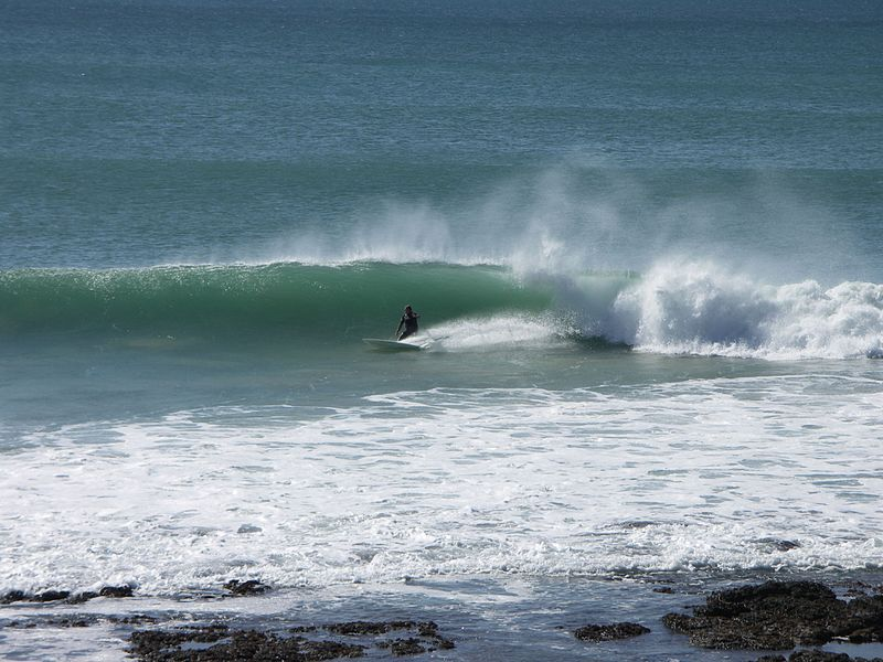 Surfing at Jeffrey's Bay
