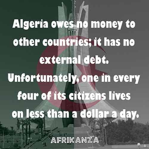A debt-free country, it owes no money to other countries