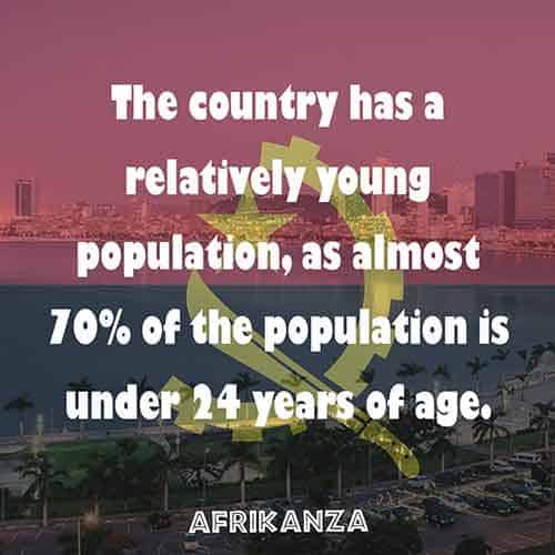 The country has a relatively young population, as almost 70% of the population is under 24 years of age.