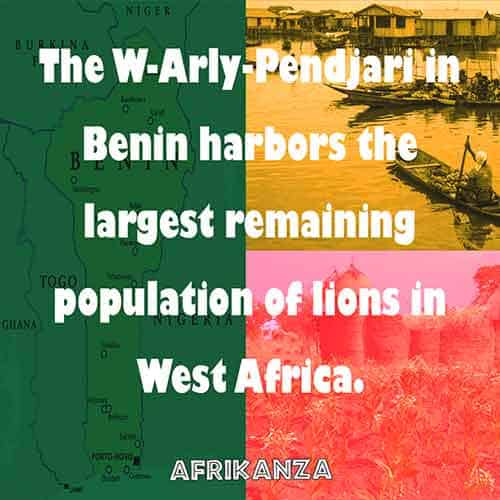 The W-Arly-Pendjari in Benin harbors the largest remaining population of lions in West Africa