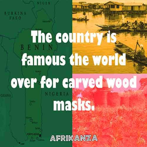 The country is famous the world over for carved wood masks