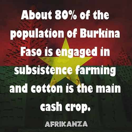 Subsistence farming in Burkina Faso is common and over 80% of the population does it