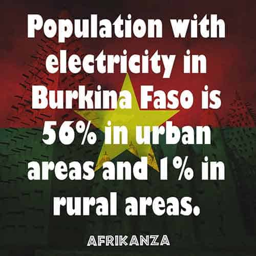 Rural areas of Burkina Faso have very little electricity