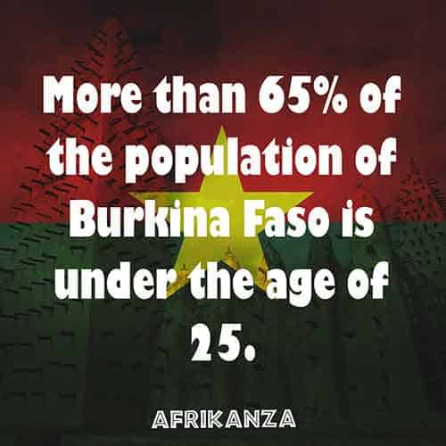 Burkina Faso has a very young population