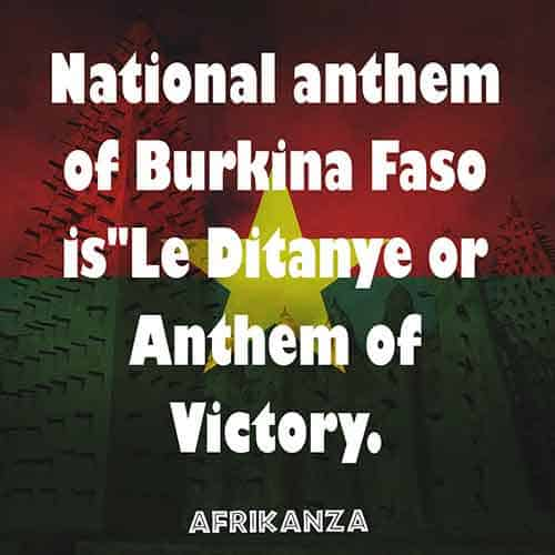 The national anthem of Burkina Faso means the Anthem of Victory
