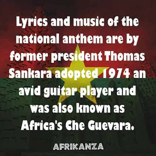 Thomas Sankara, the former president of Burkina Faso, wrote the country's national anthem
