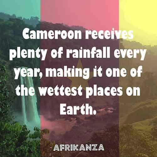 Cameroon receives plenty of rainfall every year, making it one of the wettest places on Earth.