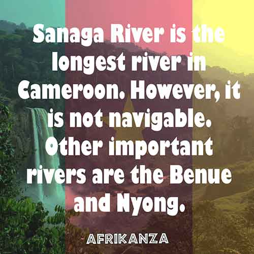 Sanaga River is the longest river in Cameroon 918Km in length covering South, West and Center Province of the country.