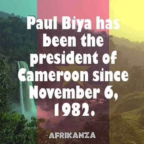 Paul Biya has been the president of Cameroon since November 6, 1982
