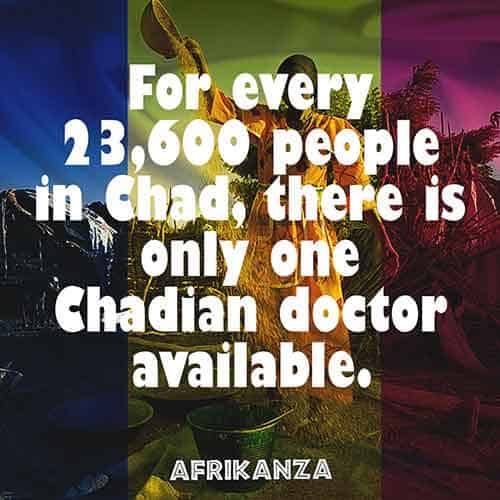 For every 23,600 people in Chad, there is only one Chadian doctor available
