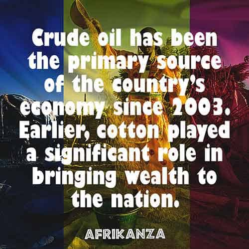 Crude oil has been the primary source of the country's economy since 2003.