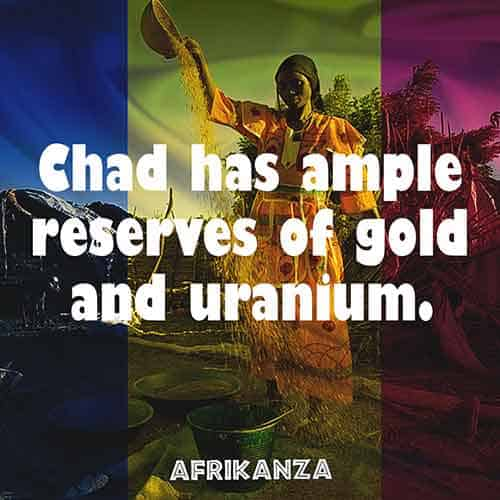 Chad has ample reserves of gold and uranium, the mining industry does not receive adequate attention and investments since the discovery of oil
