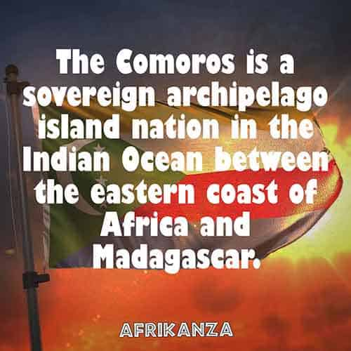 Comoros is a sovereign archipelago island nation in the Indian Ocean between the eastern coast of Africa and Madagascar