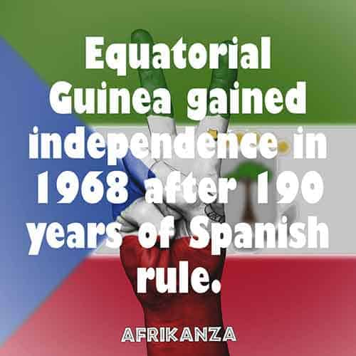Equatorial Guinea gained independence in 1968 after 190 years of Spanish rule