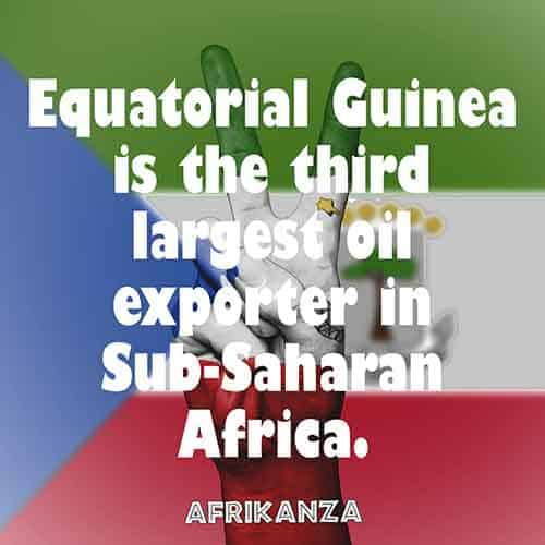 Equatorial Guinea is the third largest oil exporter in Sub-Saharan Africa