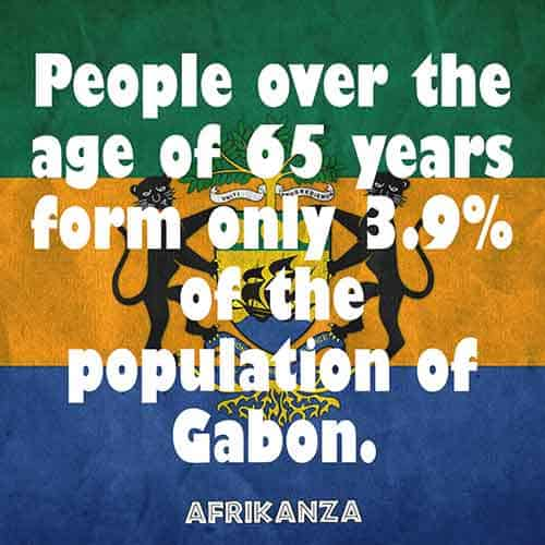 People over the age of 65 years form only 3.9% of the population of Gabon