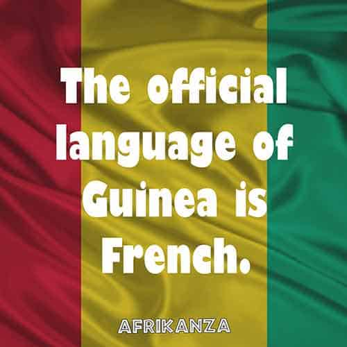 The official language of Guinea is French