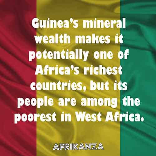 Guinea's mineral wealth makes it potentially one of Africa's richest countries, but its people are among the poorest in West Africa