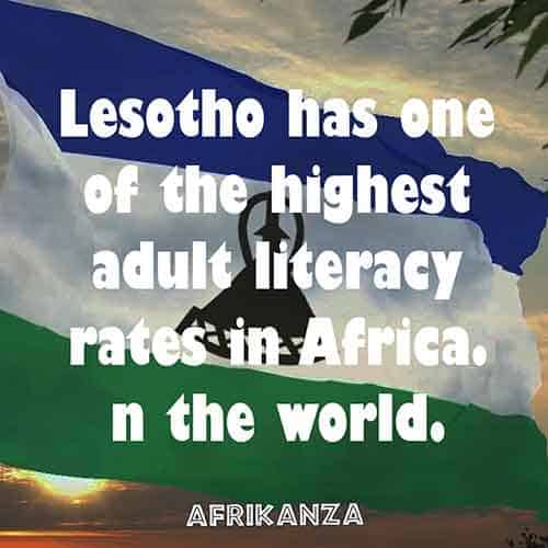 Lesotho has one of the highest adult literacy rates in Africa