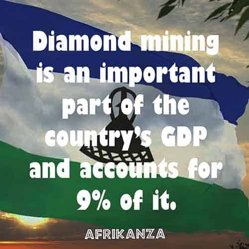 Diamond mining is an important part of the country's GDP and accounts for 9% of it