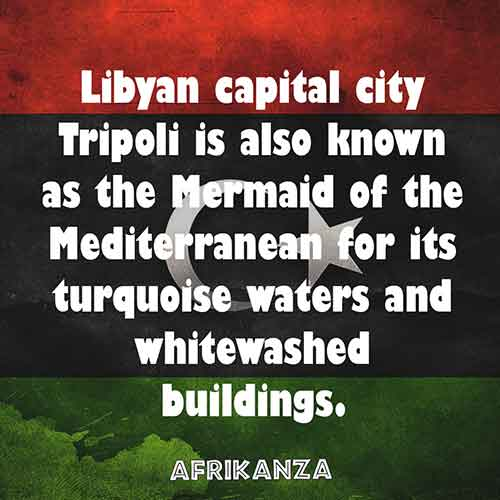 Libyan capital city Tripoli is also known as the Mermaid of the Mediterranean for its turquoise waters and whitewashed buildings
