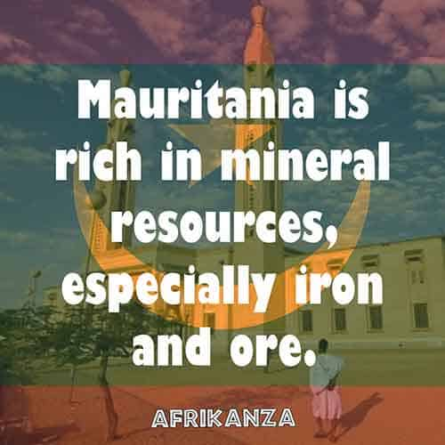 Mauritania is rich in mineral resources, especially iron and ore