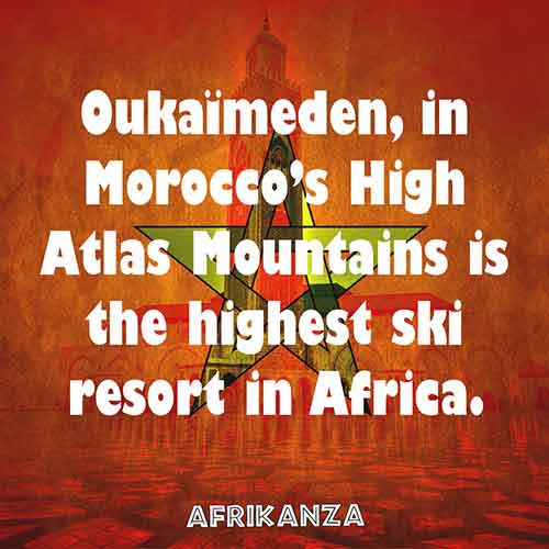 Oukaïmeden, in Morocco's High Atlas Mountains, is the highest ski resort in Africa