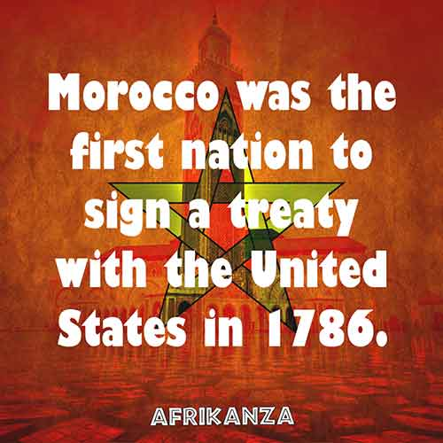 Morocco was the first nation to sign a treaty with the United States in 1786