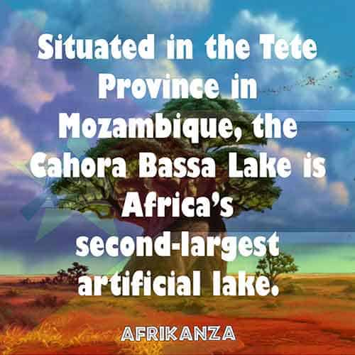 Situated in the Tete Province in Mozambique, the Cahora Bassa Lake is Africa's second-largest artificial lake