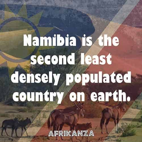 Namibia is the second least densely populated country on earth