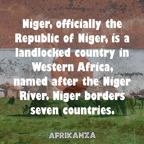 Niger, officially the Republic of Niger, is a landlocked country in Western Africa, named after the Niger River. Niger borders seven countries.