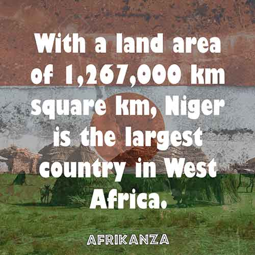 With a land area of 1,267,000 km square km, Niger is the largest country in West Africa