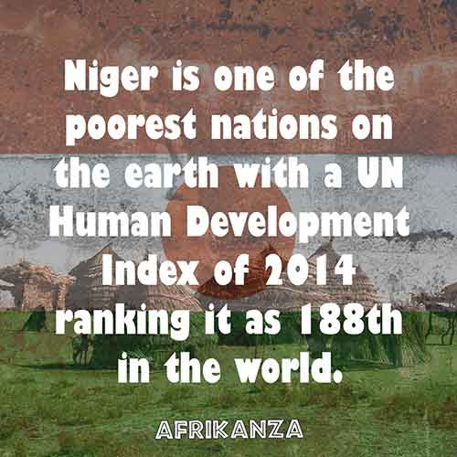 Niger is one of the poorest nations on the earth with a UN Human Development Index of 2014 ranking it as 188th in the world