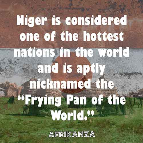 """Niger is considered one of the hottest nations in the world and is aptly nicknamed the """"Frying Pan of the World."""""""