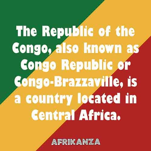 The Republic of the Congo, also known as Congo Republic or Congo-Brazzaville, is a country located in Central Africa.