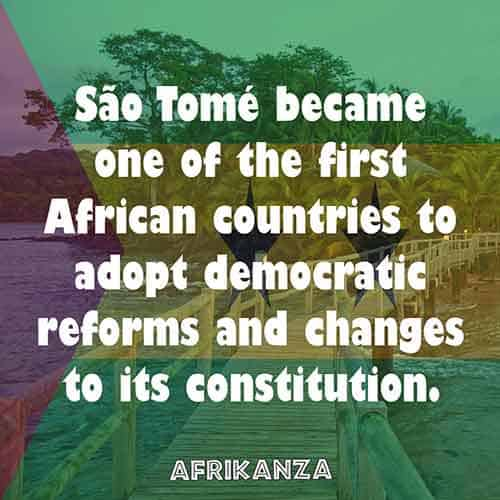 São Tomé became one of the first African countries to adopt democratic reforms and changes to its constitution.