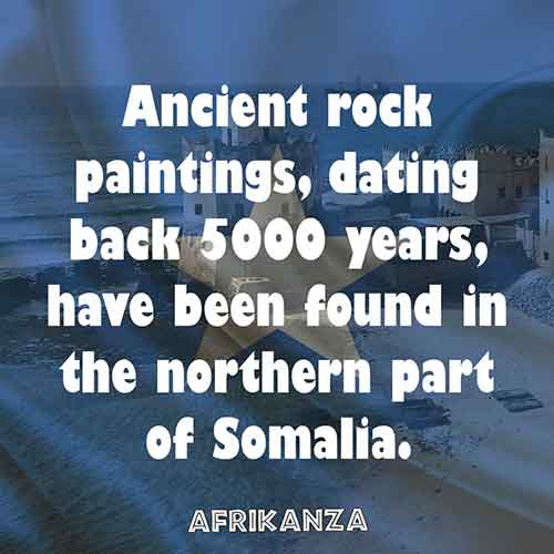 Ancient rock paintings, dating back 5000 years, have been found in the northern part of Somalia.