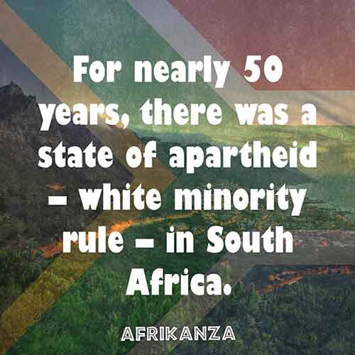 For nearly 50 years, there was a state of apartheid – white minority rule – in South Africa.
