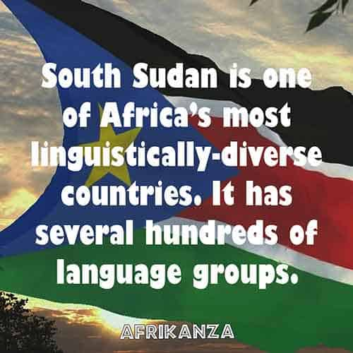 South Sudan is one of Africa's most linguistically-diverse countries. It has several hundreds of language groups.