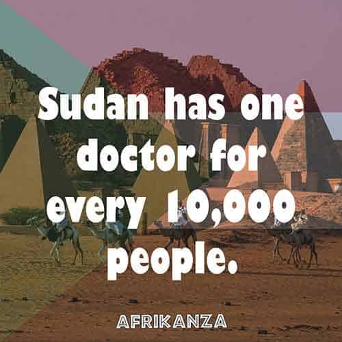 Sudan has one doctor for every 10,000 people.