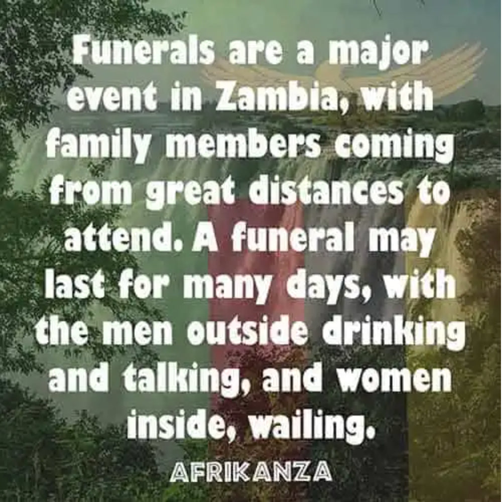 Funerals are a major event in Zambia