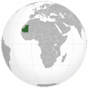 Mauritania On The Globe
